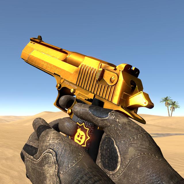 Golden Desert Eagle