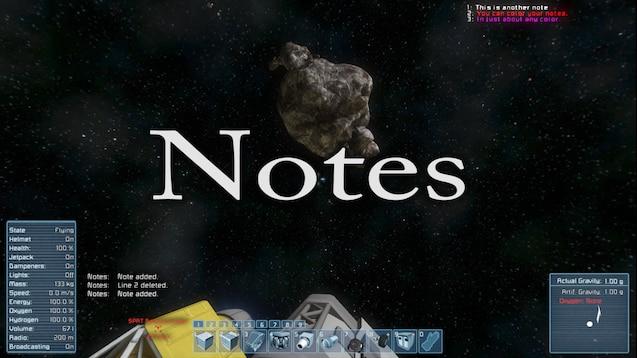 Steam Workshop :: Notes