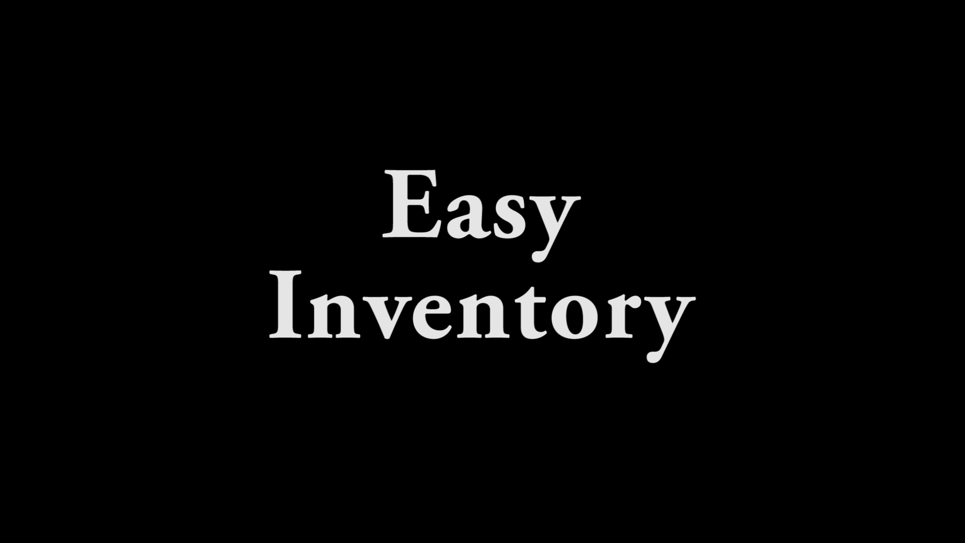 Easy Inventory(modified)