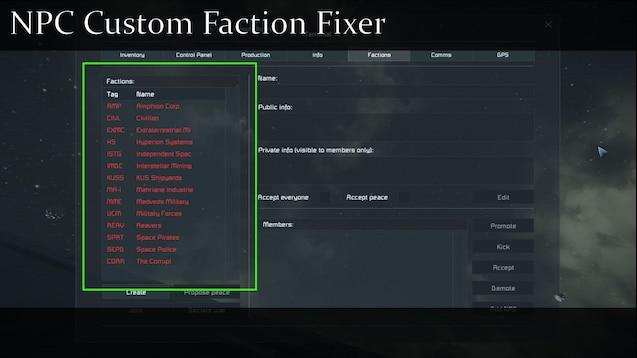 custom npcs factions