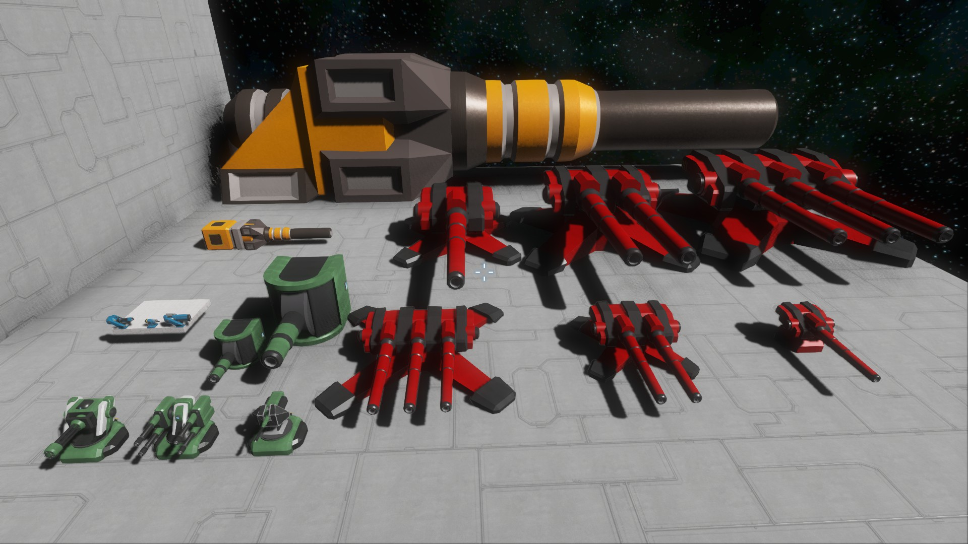 Battle Cannon and Turrets (DX11)